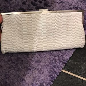 Hobo international white Patent Leather clutch
